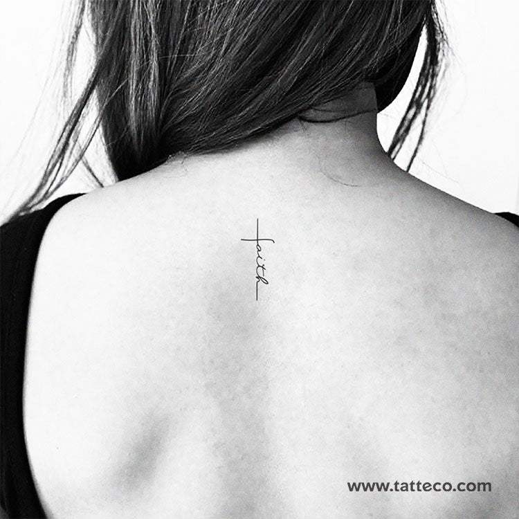 Faith Cross Temporary Tattoo - Set of 3