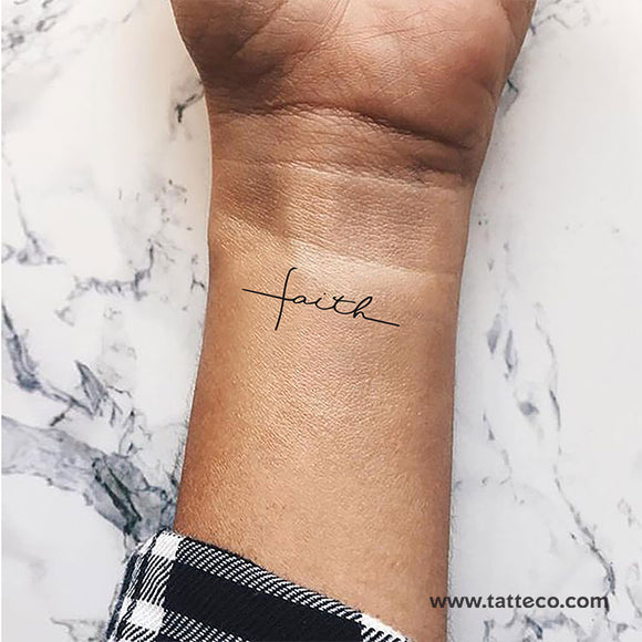 Faith Cross Temporary Tattoo (Set of 3)