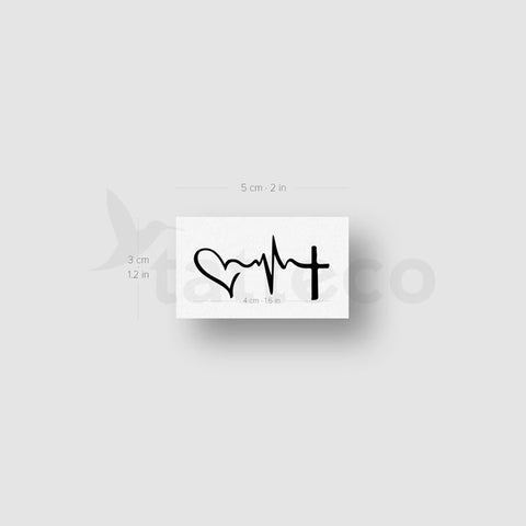 Faith Hope Love Temporary Tattoo - Set of 3
