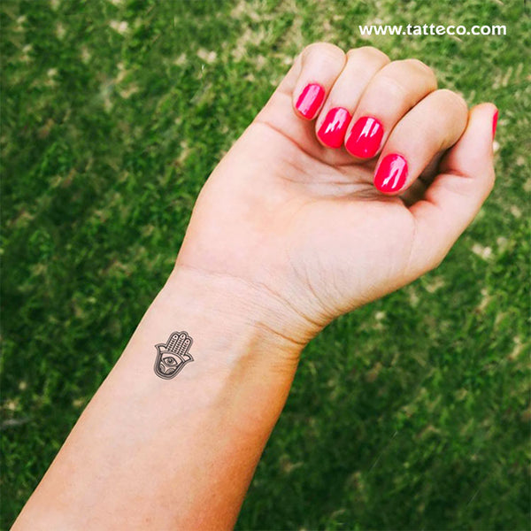Hamsa Temporary Tattoo - Set of 3