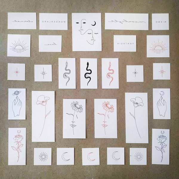 Jakenowicz Collection Temporary Tattoo Set