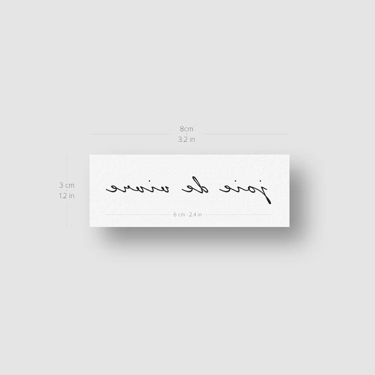 Joie De Vivre Temporary Tattoo - Set of 3