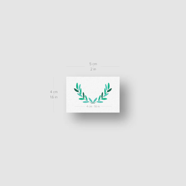 Laurel Wreath Temporary Tattoo by Zihee - Set of 3