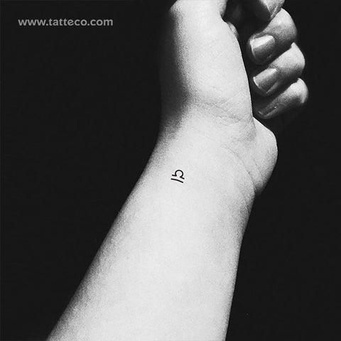 Libra Zodiac Symbol Temporary Tattoo - Set of 3
