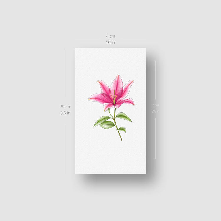 Illustrative Lily Temporary Tattoo - Set of 3