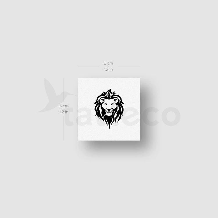 Lion Face Temporary Tattoo - Set of 3