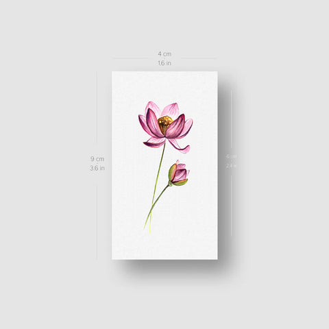 Lotus Temporary Tattoo - Set of 3