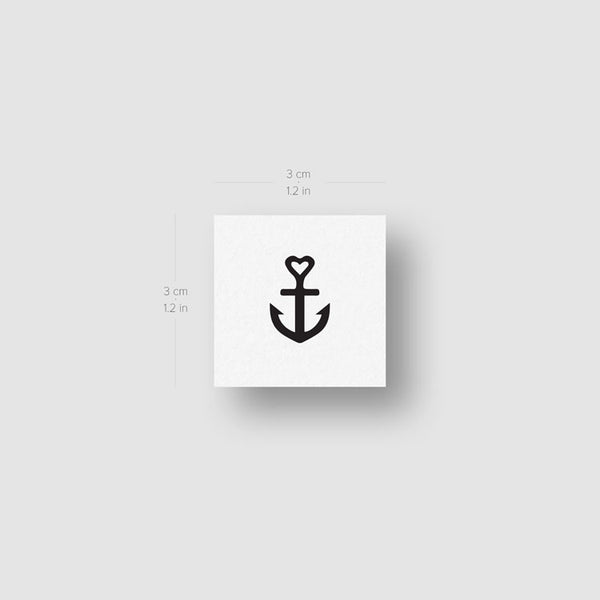 Love Anchor Temporary Tattoo - Set of 3