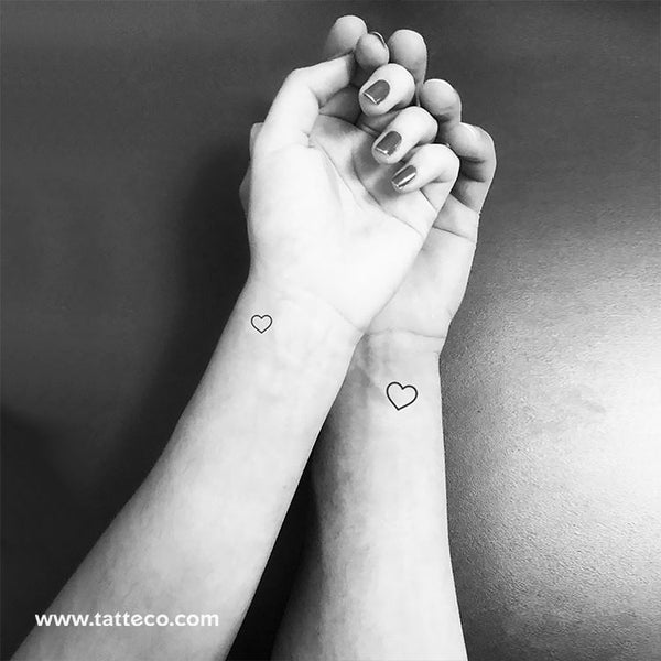 Matching Hearts Temporary Tattoos (Set of 2+2)