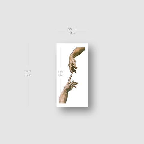 Creation of Adam Hands Temporary Tattoo - Set of 3