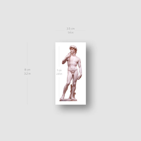 Michelangelo's David Temporary Tattoo - Set of 3