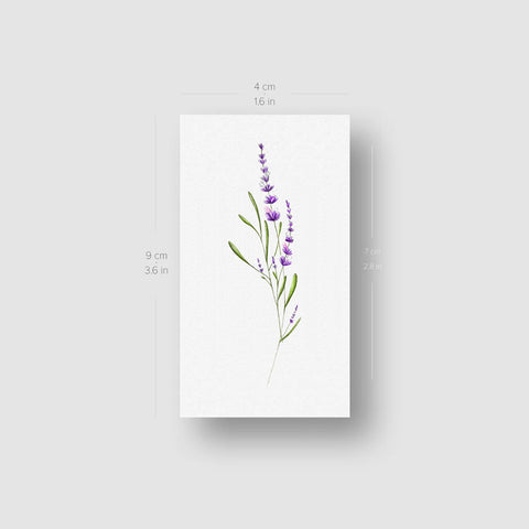 Illustrative Lavender Temporary Tattoo - Set of 3