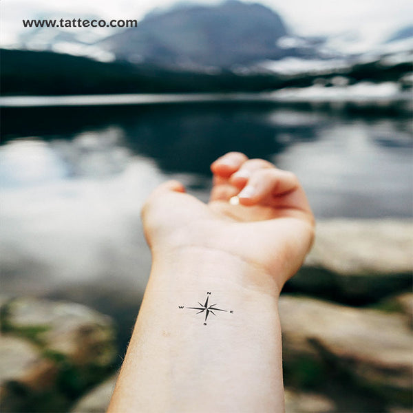 Compass Rose Temporary Tattoo - Set of 3