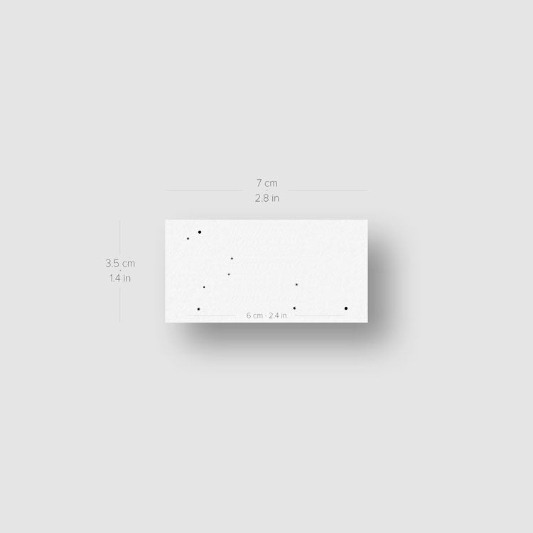 Minimalist Leo Constellation Temporary Tattoo - Set of 3