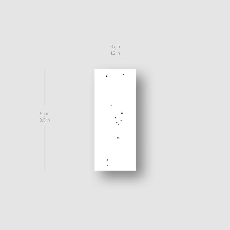 Minimalist Taurus Constellation Temporary Tattoo - Set of 3
