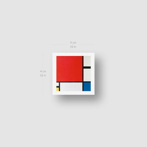 Mondrian's Composition II Temporary Tattoo - Set of 3