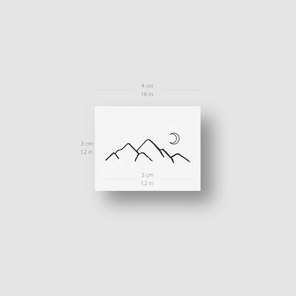 Mountain Range Temporary Tattoo - Set of 3