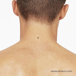 Number 7 Temporary Tattoo (Set of 3)