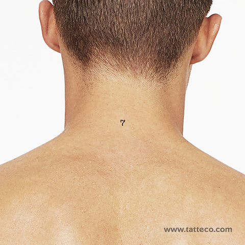 Number 7 Temporary Tattoo - Set of 3