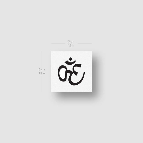 Om Temporary Tattoo - Set of 3