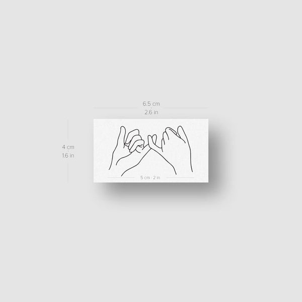 Pinky Promise Temporary Tattoo - Set of 3