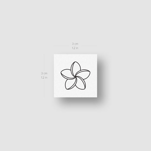 Plumeria Temporary Tattoo - Set of 3