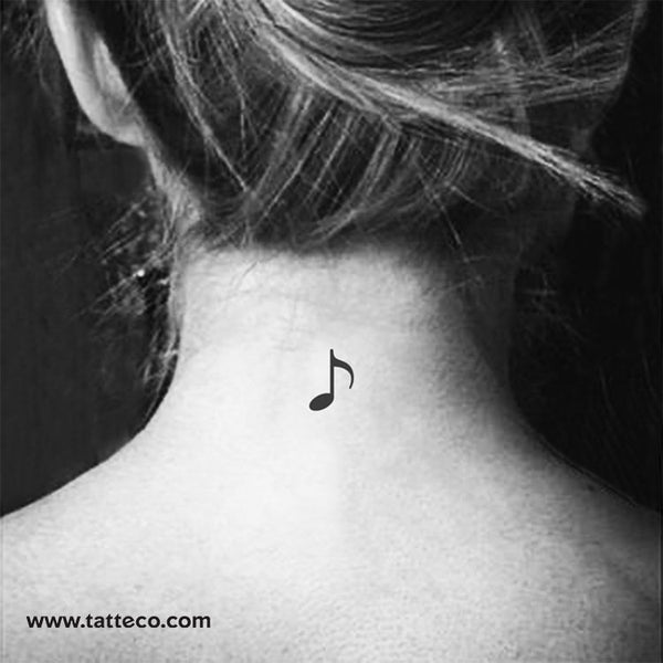 Music Note Temporary Tattoo - Set of 3
