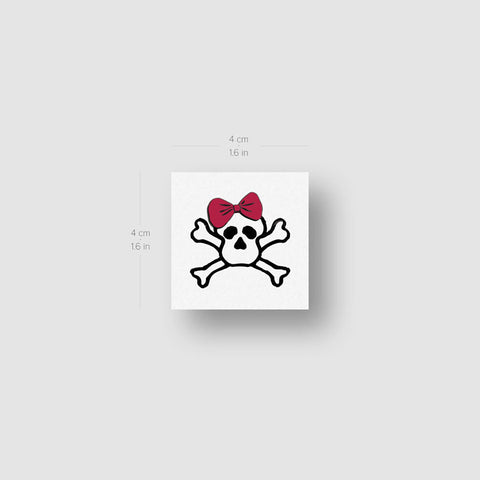 Rihanna Skull Temporary Tattoo - Set of 3