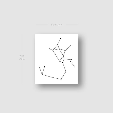 Sagittarius Constellation Temporary Tattoo - Set of 3