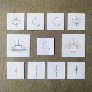 Astronomy Temporary Tattoo Set by Jakenowicz