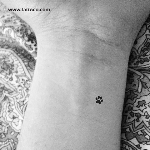 Small Paw Print Temporary Tattoo - Set of 3