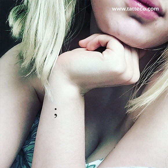 Semicolon Temporary Tattoo (Set of 3)