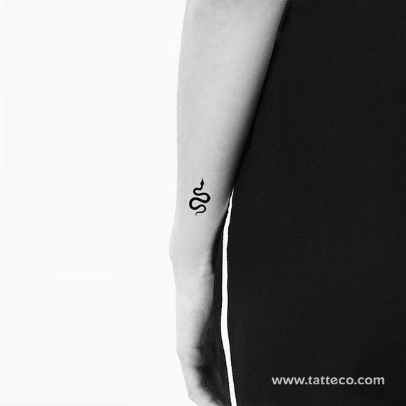 Small Black Snake Temporary Tattoo (Set of 3)