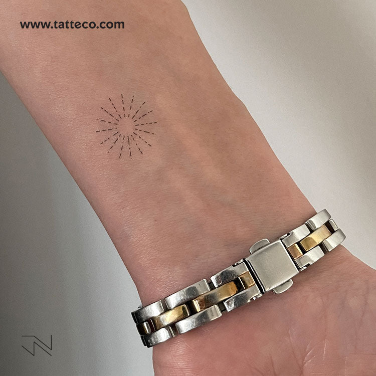 Solar Sparkle Type II by Jakenowicz Temporary Tattoo - Set of 3