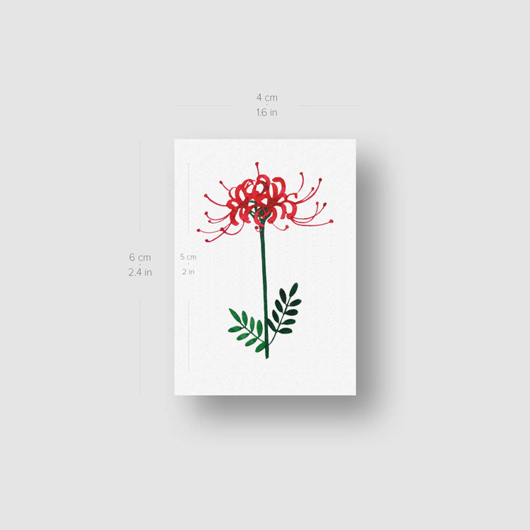 Spider Lily Temporary Tattoo by Zihee - Set of 3