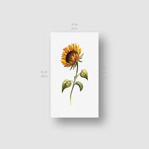 Sunflower Temporary Tattoo - Set of 3