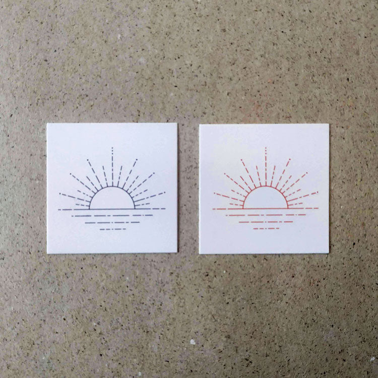 Sunset Collection Temporary Tattoo Set by Jakenowicz