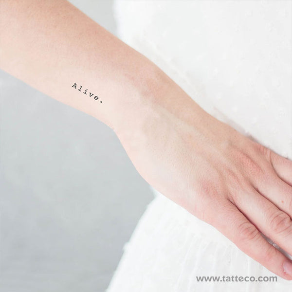 Alive Temporary Tattoo (Set of 3)