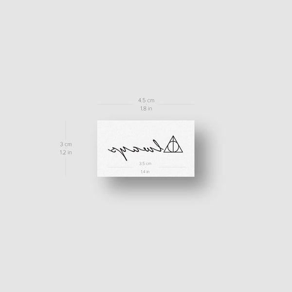 Always Deathly Hallows Temporary Tattoo - Set of 3