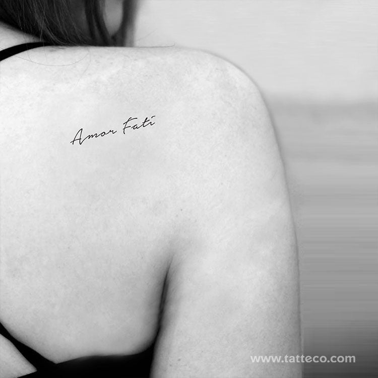 Amor Fati Temporary Tattoo - Set of 3