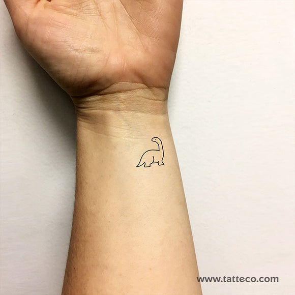 Diplodocus Temporary Tattoo (Set of 3)