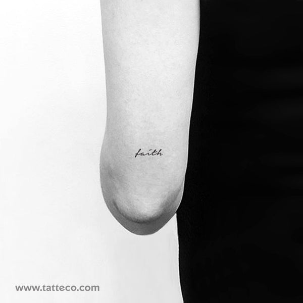 Faith Temporary Tattoo - Set of 3