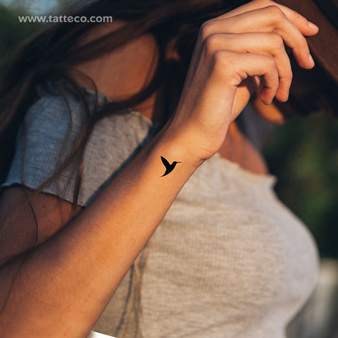 Hummingbird Temporary Tattoo - Set of 3