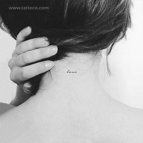 Love Temporary Tattoo - Set of 3