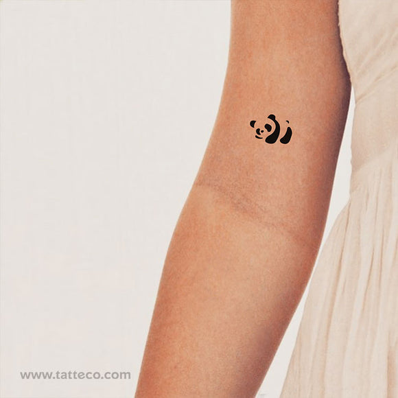 Panda Bear Temporary Tattoo (Set of 3)