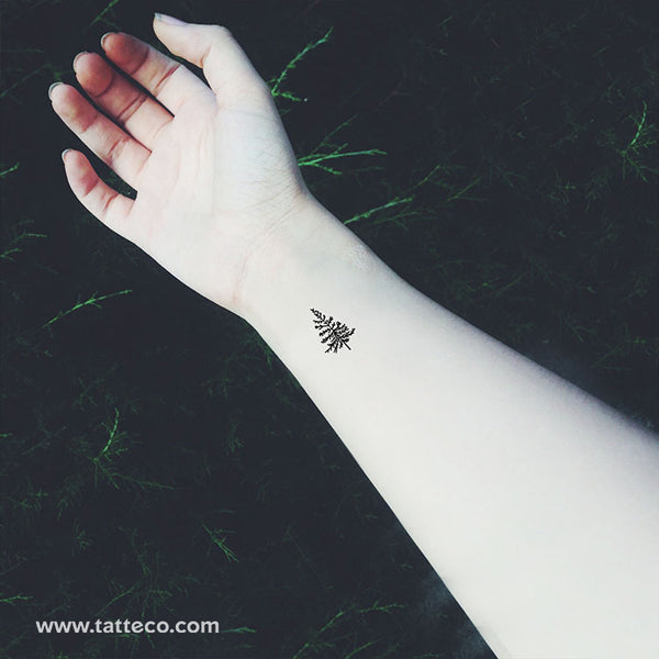 Small Pine Tree Temporary Tattoo - Set of 3