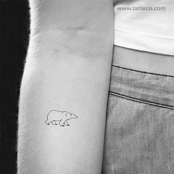 Polar Bear Temporary Tattoo (Set of 3)