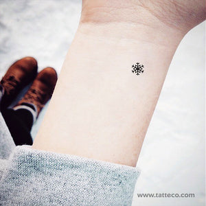 Small Snowflake Temporary Tattoo - Set of 3