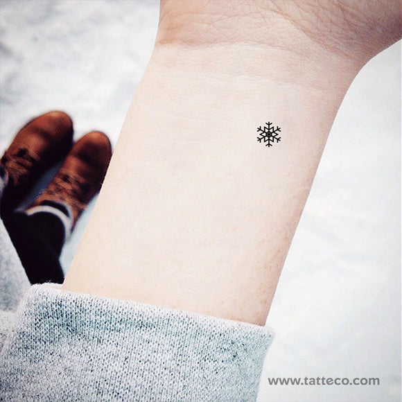 Snowflake Temporary Tattoo (Set of 3)