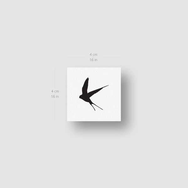 Black Swallow Temporary Tattoo (Set of 3)